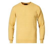 Stenströms Merino Cable Rundhals Soft Yellow