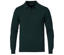 Rowan Baumwoll/Silk Longsleeve Polo Hunter Green