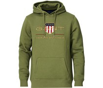Archive Shield Hoodie Four Leaf Green