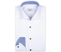 Slimline Contrast Hemd White