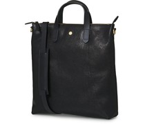M/S Leder Shopping Tasche Black