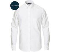 Slimline Oxfordhemd White