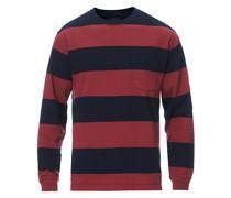 Pocket Gym Sweatshirt Navy/Burgundy
