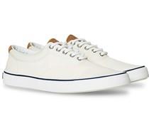 Striper II Canvas Sneaker White