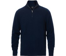 Everyday Cashmere Half Zip Navy