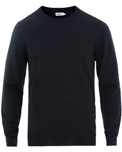 Merino Round Neck Pullover Navy