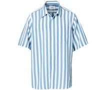 Summer Fit Kurzarm Hemd Light Blue/White