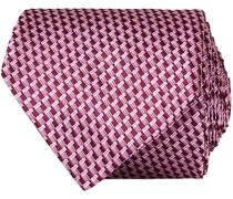 Silk Micro Weave 8 cm Krawatte Bordeaux