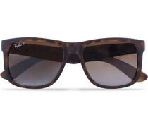 0RB4165 Justin Polarized Wayfarer Sonnenbrille Havana/Brown