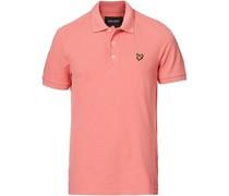 Plain Pique Polohemd Punch Pink