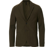 Rice Stitched Blazer Moss Green