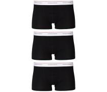 3-Pack Baumwoll Stretch Boxershort Black