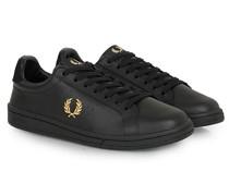 Park Side Ledersneaker Black