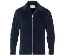 Maddon Baumwoll Cord Hemd mit Reißverschluss Jacke Light Ink
