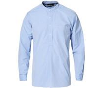 Stehkragen Popover Hemd Light Blue