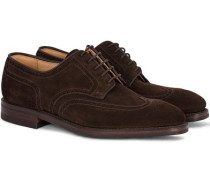 Swansea Brogue Dark Brown Suede