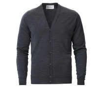 Petworth Merino Cardigan Charcoal