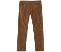 484 Stretch Corduroy 5-Pocket Saddle Brown