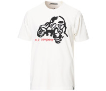 Comics und Cars Logo Tshirt White