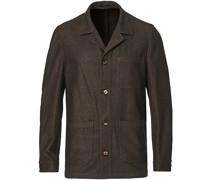 Woll Flannel Überhemd Brown