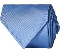 Handrolled Woven Silk 8 cm Krawatte Blue