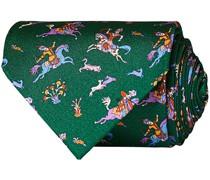 Printed Silk Twill Moghul 8 cm Krawatte Green