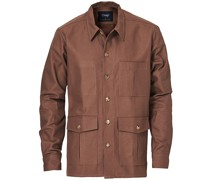 Solid Twill Überhemd Brown