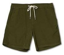 Gregor Drawstring Shorts Army Green