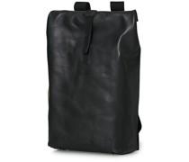 Pickwick Large Leder Rucksack Black