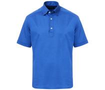 Slim Fit Kurzarm Pique Hemd Sky Blue