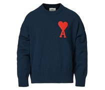 Big Heart Oversize Pullover Navy