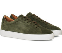 Marching Sneaker Olive Suede