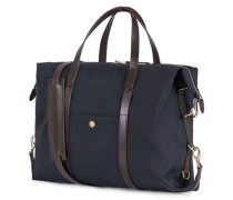 M/S Utility Nylon Duffle Tasche Navy/Dark Brown