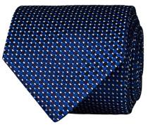Silk Geometric Weave Krawatte Navy