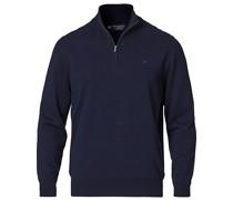 Baumwoll/Silk Half -Zip Navy