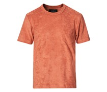 Fons Baumwoll Blend Terry Pocket Tshirt Reddish