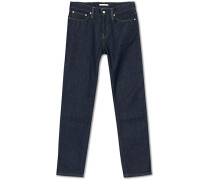 Slim Straight Raw Jeans Indigo