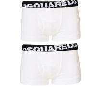 2-Pack Baumwoll Stretch Boxershort White