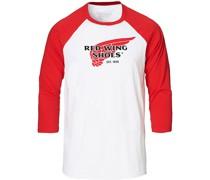 3/4 Sleeve Baseball Logo T-shirt Red/White