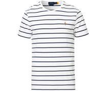 Luxury Pima Baumwoll Stripe Tshirt White/Navy