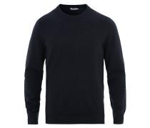 Baumwoll Merino Basic Pullover Navy