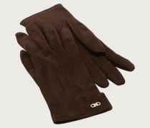 Handschuhe mit Gancini Detail