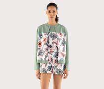 Wool and silk round neck sweater