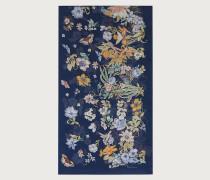 Blumen Buchstaben Halstuch aus Seide