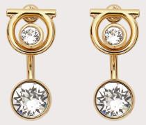 Ohrringe mit Gancini Detail und Kristallen