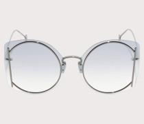 Sonnenbrille Dunkel Ruthenium/e Gläser