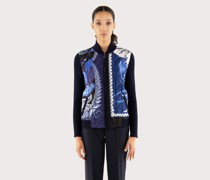 Quilted blouson jacket