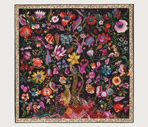 Silk Tree of Life Print Square Scarf