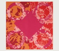 Seidentuch Printmotiv Gancini /rosa/orangefarben