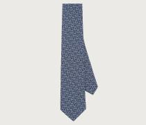 Keys and Gancini print silk tie